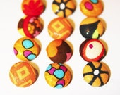 Orange Assorted Cover Buttons
