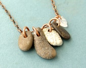 Discount Jewelry - Pebble necklace - river rocks necklace - Rock Collection 2