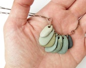 Natural jewelry - pebble necklace - Rock Collection, Green Spectrum