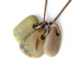 Stone necklace - natural jewelry - Swamp Fox
