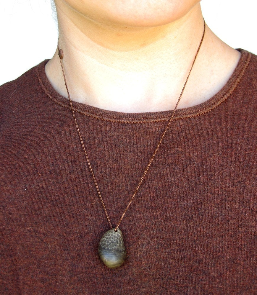 Petoskey Stone Jewelry Fossil Necklace By AuthenticStone