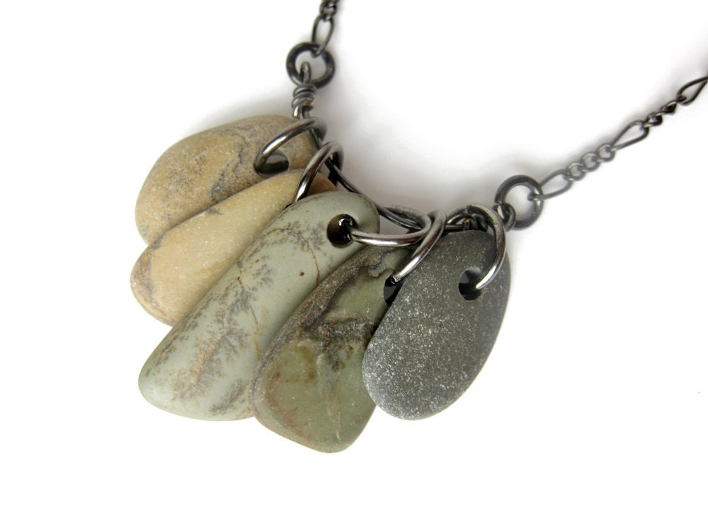 Marble Stone Jewelry : Natural stone jewelry all forest ombre
