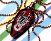 Scorpion Pendant with 24 inch Copper Lead Free Ball Chain Necklace