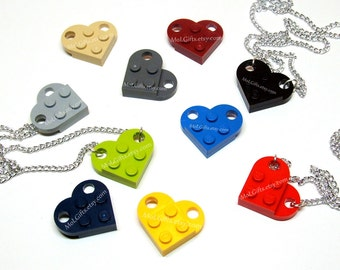Heart Necklace - You Choose Color - made from LEGO® Pieces