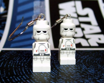 Snow Trooper Earrings made from Genuine Star Wars LEGO (r) Microfigs