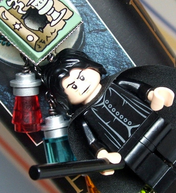 Severus Snape Bookmark made from LEGO (r) Pieces  - Original Design by MoLGifts