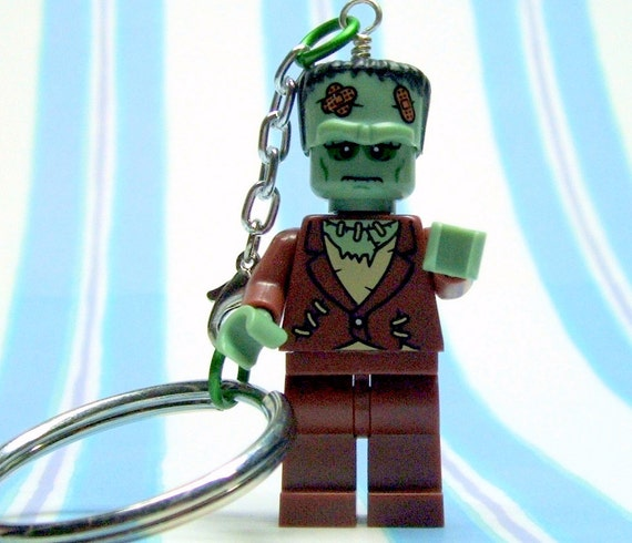 Frankenstein Monster Keychain - made from Series 4 Lego Minifig