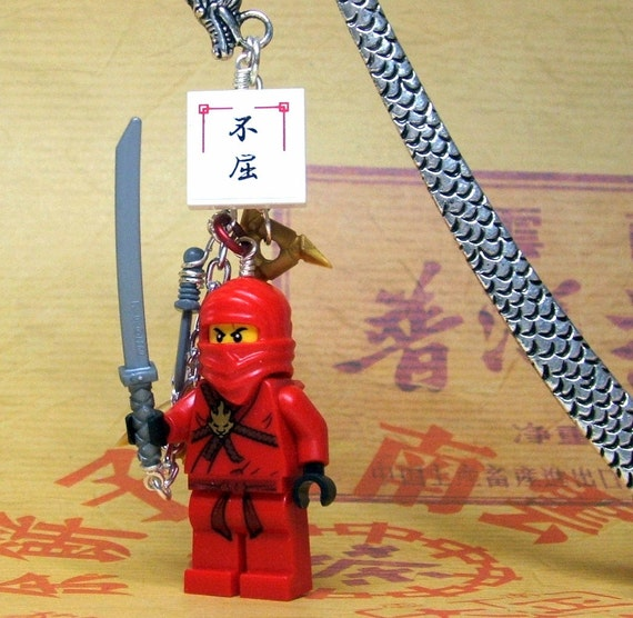 Gods And Warriors Books In Order: Red Ninja Warrior Bookmark Dragon God Made From By MoLGifts