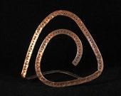 Copper Delta Jewelry Organizer for Earrings