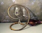 Copper Swirl Jewelry Organizer for Earrings