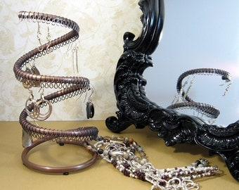 Copper Vortex Contemporary Jewelry Organizer Earring Display