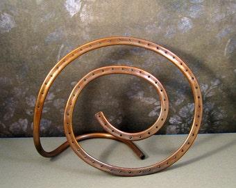 Hypnotic Copper Swirl Jewelry Organizer for Earrings