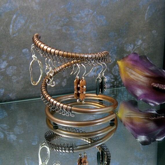 Mini Vortex Earring Display in Copper