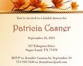 Fall/Autumn Bridal Shower Invitation