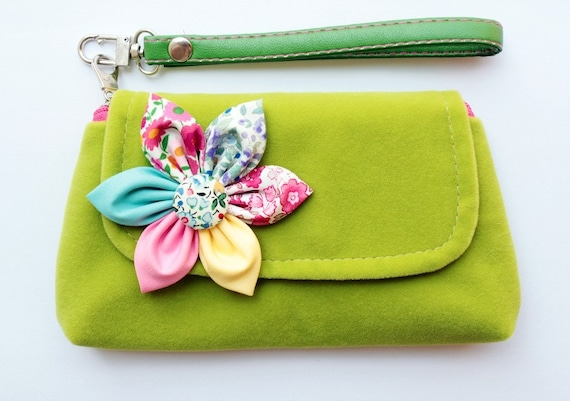 PROMOTION Buy 3 Get 1 FREE- Green Velvet Wristlet