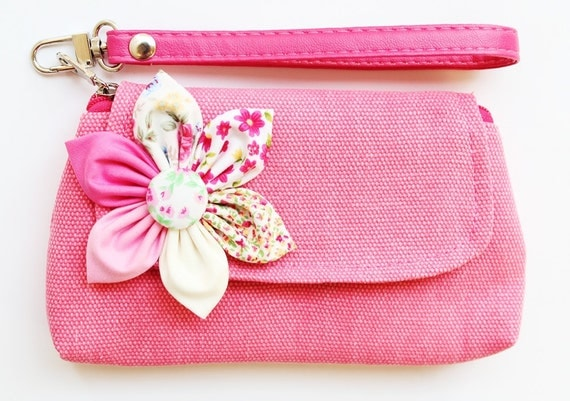 SALE Buy 3 Get 1 FREE- Pink Purse For Cell phone Coin iPhone Blackberry