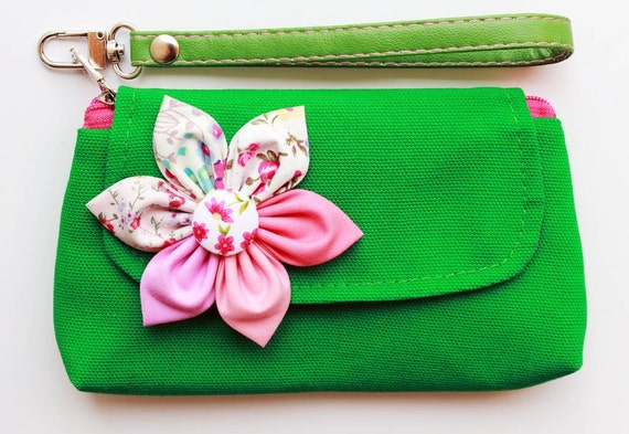 iPhone purse wristlet purse zipper wallet  pencil purse  Green For iPhone Coin SALE Buy 3 Get 1 FREE