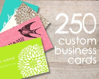 Business Cards - Custom Business Cards - Jewelry Cards - Earring Cards - Display Cards - QTY 250 - YOUR LOGO