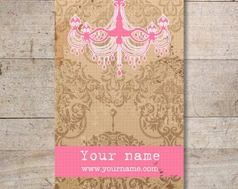 Business Cards - Custom Business Cards - Jewelry Cards - Earring Cards - Display Cards - Vintage Chandelier - No. 34