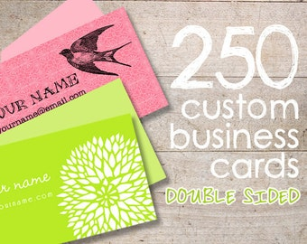 Custom Business Cards - Calling Cards - Jewelry Display Cards - Earring Cards - QTY 250 - DOUBLE SIDED