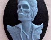 Dead Rocker Cameo in Blue 40x30mm, set of 3