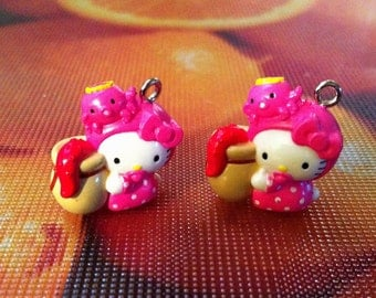 """Hello Kitty Charms """"Octo Baby"""", set of 2"""