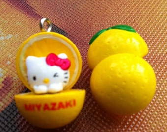 "Hello Kitty Charms, ""Orange You A Kitty"", 2"