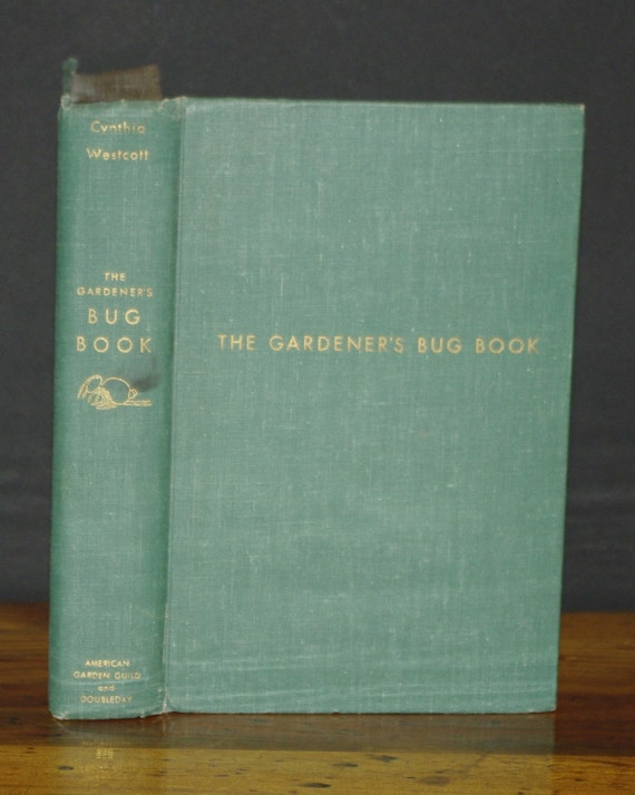 Hollow Book Safe Gardeners Bug Book vintage green magnetic closures