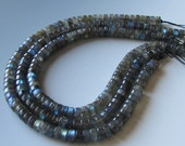 SALE Labradorite Barrel Bead Strand