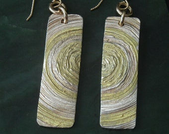 Silver and Gold Big Bang Earrings
