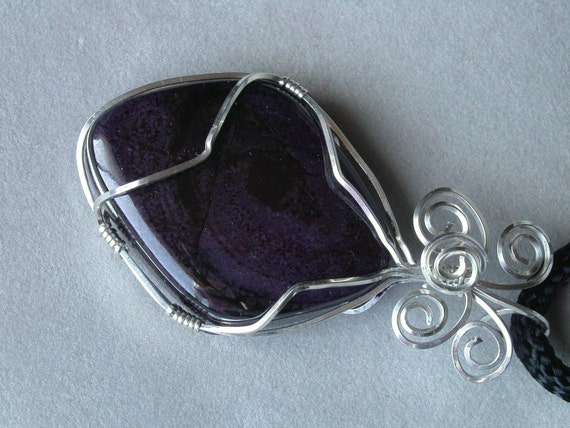 Sugilite Wire Wrapped Pendant REDUCED