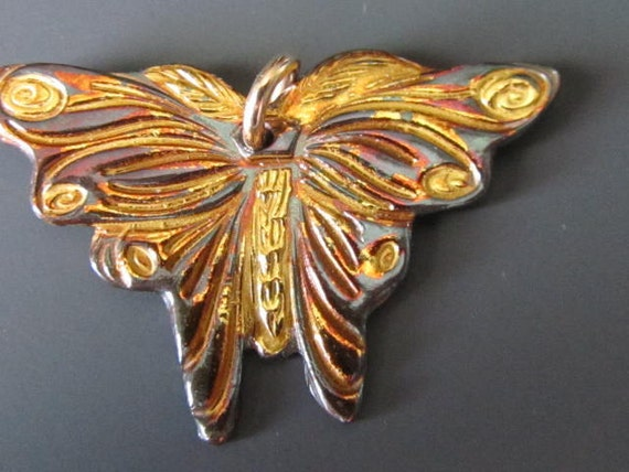Golden Butterfly of Fine Silver and Gold