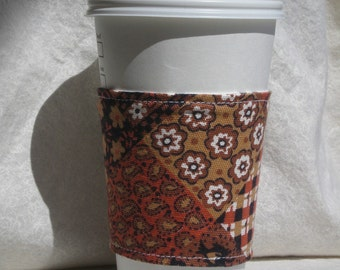 Quilt Pattern Coffee Cozy