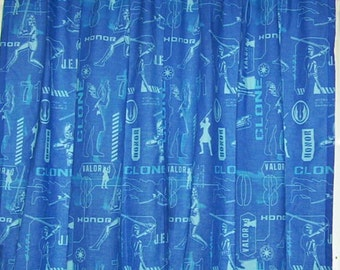 Set of lined curtains using The Clone Wars/Star Wars