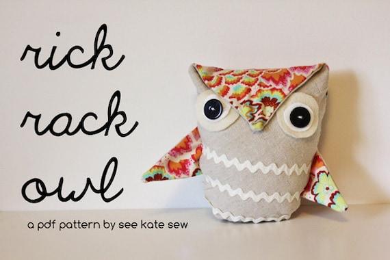 rick rack owl PDF pattern