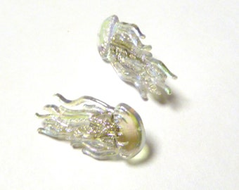 Earrings Mix and Match Collection Matching Set Iridescent Clear Jellyfish