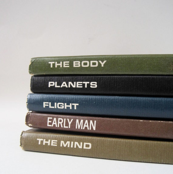 Vintage 1964 LIfe Science Library Collection The Body, Planets, Early Man, The Mind, Flight