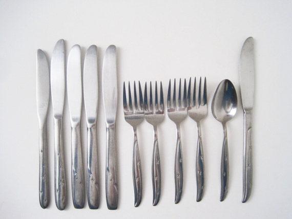 Mid century modern starburst flatware stainless steel japan - Contemporary stainless flatware ...