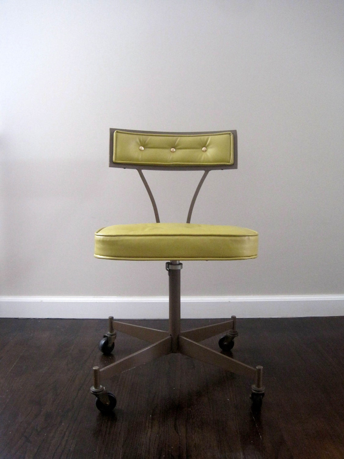 On Hold Mid Century Modern 1950s Rolling Desk Chair
