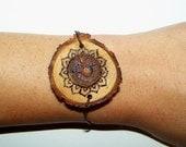 Anahata Chakra Wood Wayfer Bracelet