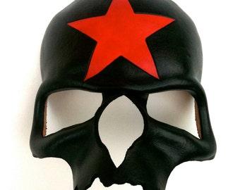 Black Death Leather Mask