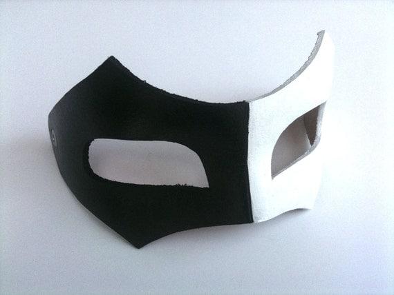 Half and Half Bandit Leather Mask