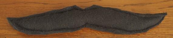 Black Fleece Cat Mustache Toy