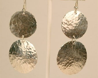 Double Hammered Silver Disks
