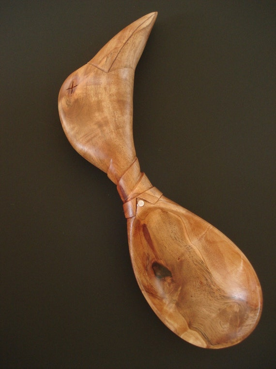 WRING AROUND the COLLAR wooden spoon hand carved by Spoontaneous, wood spoon, wood carving, spoon, carved spoon, wood anniversary gift