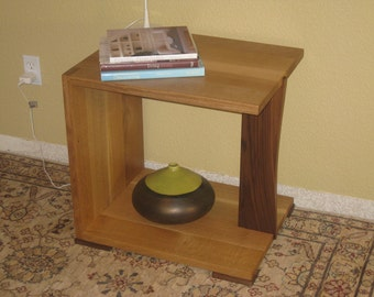 Solid Wood Contemporary Nightstand