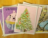 Pack of 6 Christmas Cards - mixed designs