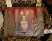 RESERVED for TatteredRags-Evil Bunny Coin Purse