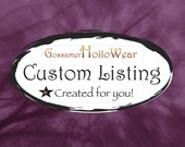 Custom listing-Reserved for DIVADIARIES