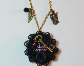 Black Wreath and Tartan Locket